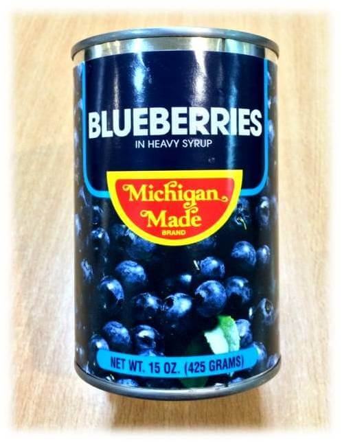 Michigan Blueberries in Heavy Syrup